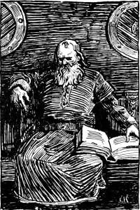 Christian Krogh: Illustration for Heimskringla 1899-edition. «Snorre Sturluson»
